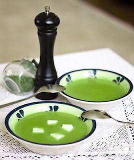 Supa crema de mazare cu tarhon