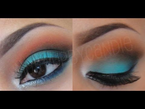 Miami Dolphins Makeup Tutorial