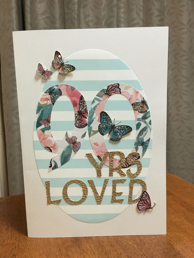 Card Making Ideas 90th Birthday Part - 26: 90 YRS YOUNG Grandmas Birthday Card