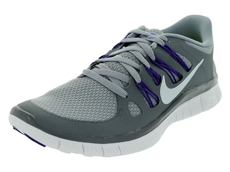 Nike Women's Free 5.0+, Stealth Grey/Metallic Platinum-Dark Grey/Purple