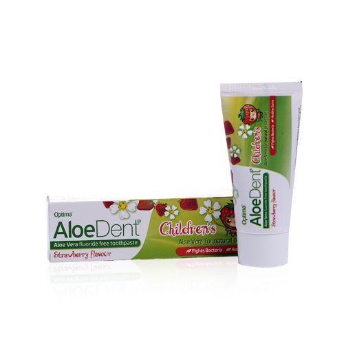Aloesowa pasta do zębów dla dzieci. O smaku truskawkowym.