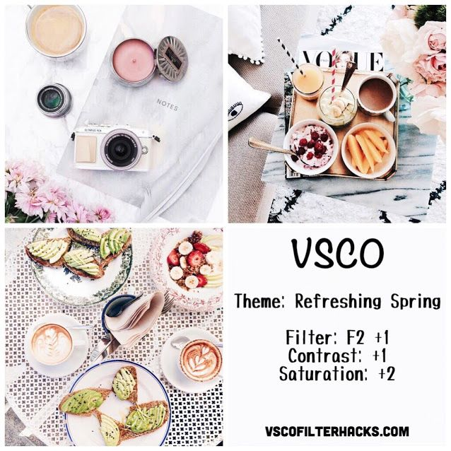 Refreshing Spring Instagram Feed Using VSCO Filter F2
