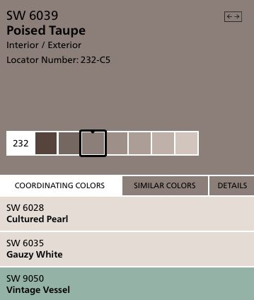 2017 Color Of The Year Poised Taupe Image Courtesy Sherwin Williams My Attic Pinterest Paint Colors House And Painting