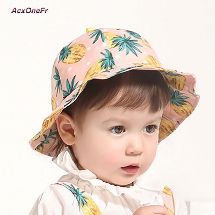 >> Click to Buy << Children Hat Summer Pineapple Pattern Baby Boys Spring Hat Girls Sun Caps Photography Prop Outdoor Wide Brim Beach Bucket Hat #Affiliate