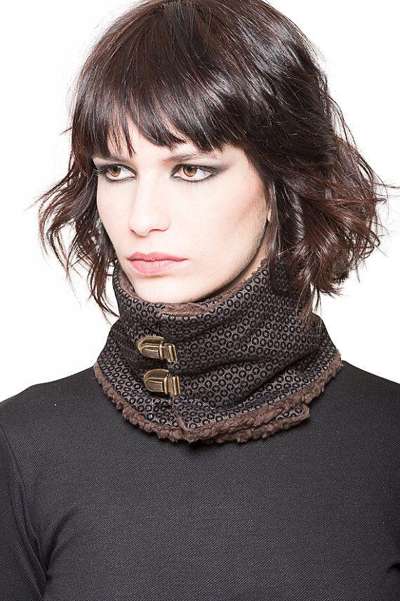 En venta 50% marrón cuello calentador por EONParis en Etsy