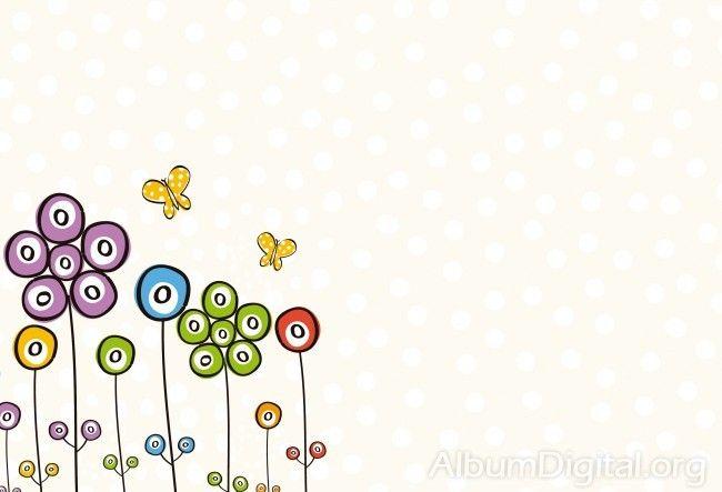 Fondo Primavera álbum Classic Flores Violetas: Fondo Comunión Para álbum Classic Flores Y Mariposas De