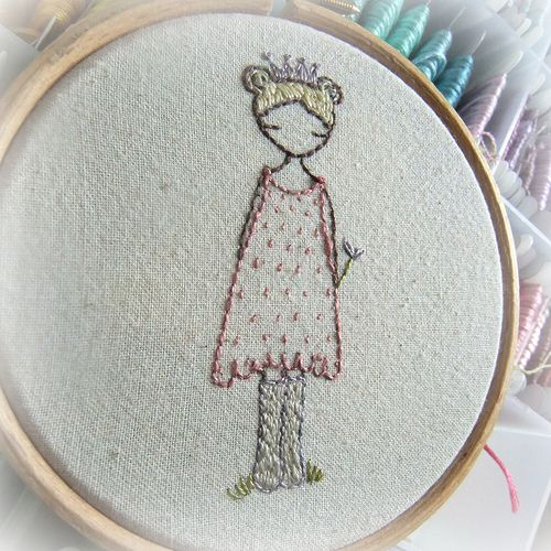 Enchanting embroidery ♒ princess wellies cute
