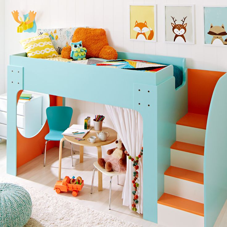 This lofted bed is a dream come true for your little ones!