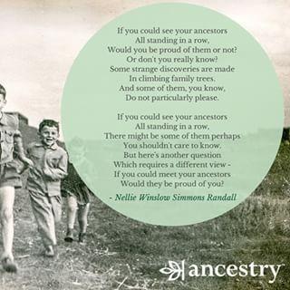 Would your ancestors be proud of you? #ancestry #genealogy #ancestors…