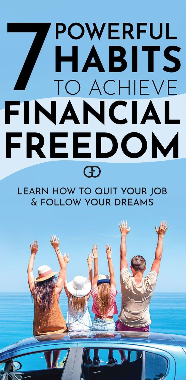 7 Easy Steps To Achieve Financial Freedom Financial Freedom Freedom Financial Wellness