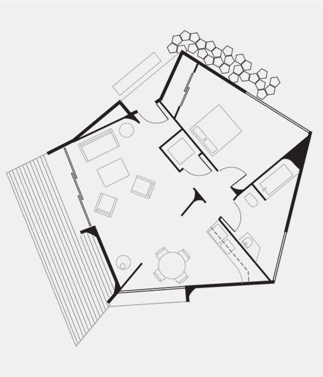 Circular affordable housing prototype dining rooms for Prototype house plan
