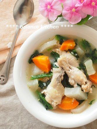 コラム・レシピ掲載】風邪・冷え予防に。鶏手羽元と野菜の塩麹スープ ...