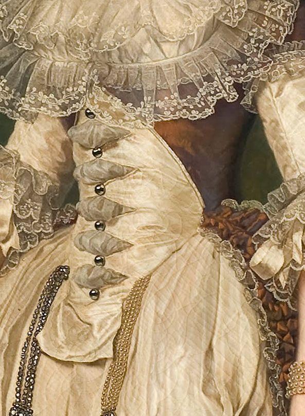 artschoolglasses:  Details of Marie Antoinette; 1785