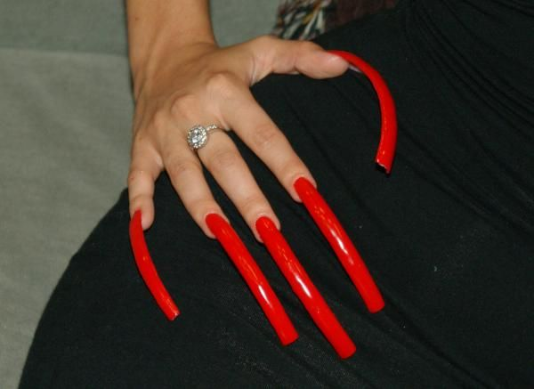 With long women nails sexy