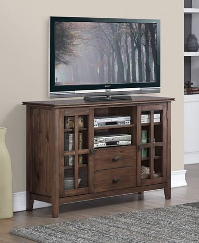 For family room Bellevue Tall TV Stand, Direct Ship - TV Stands - Furniture - Macy's