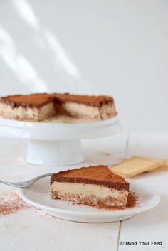 Cappuccino chocolade kwarktaart - Mind Your Feed