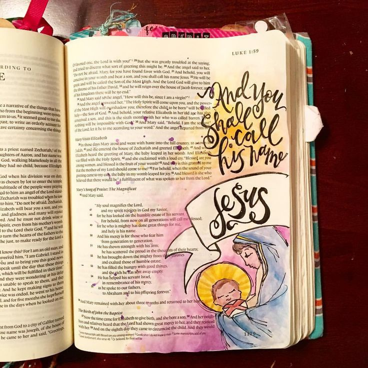 Luke 1:31 illustrated faith bibleartjournaling