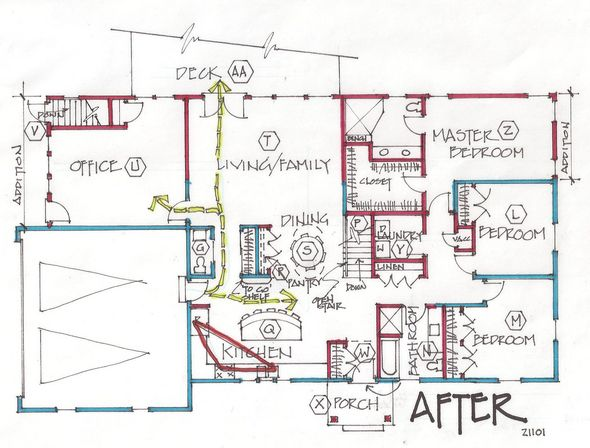 391 best great home addition ideas before and after pics for Ranch home addition floor plans