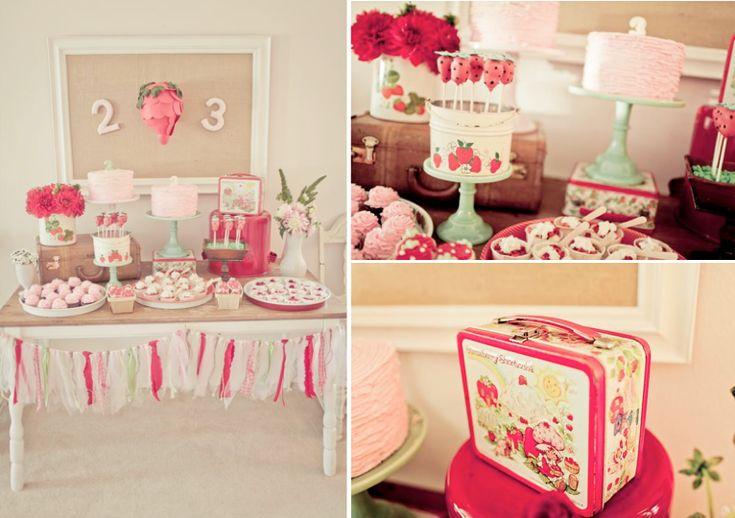 Vintage Strawberry Shortcake Themed Birthday Party Planning via Karas Party Ideas - www.KarasPartyIdeas.com
