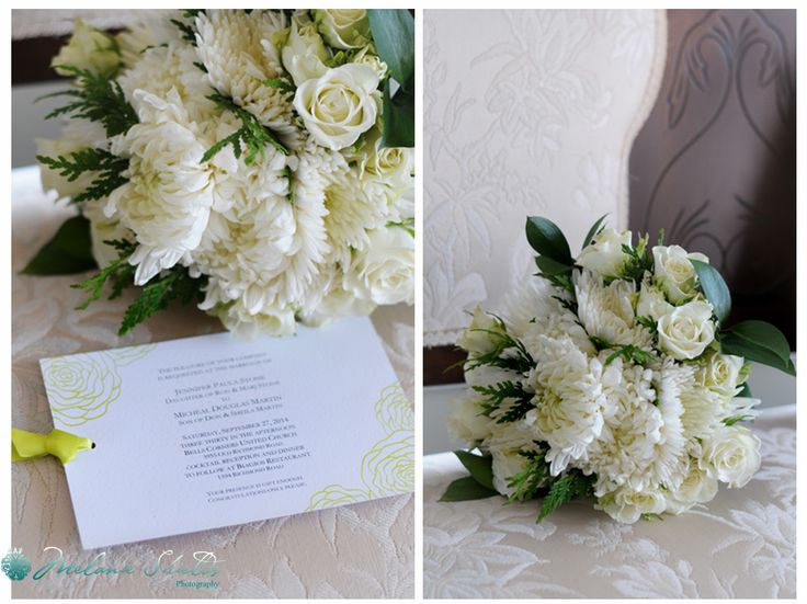 lime and white bride DIY bouquet