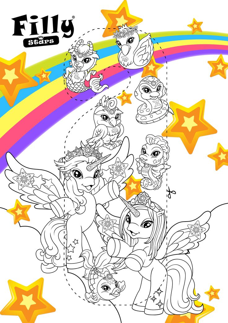 Download and colour this Filly Star door hanger, you can win a prize