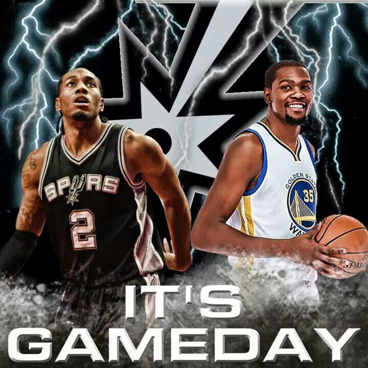 Spurs vs Warriors. Spurs Kawhi Leonard and Warriors Kevin Durant. Spurs Game Day
