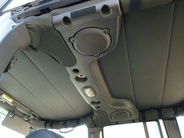 Soft top headliners for 2 & 4 door Jeep JKs will help you stay warm, quiets you ride & looks great!