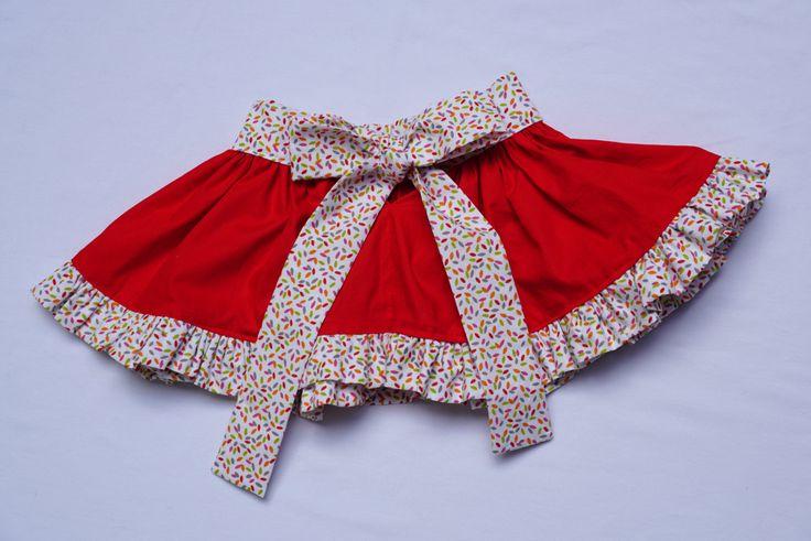 Full circle skirt, red skirt, twirl skirt, Ruffle Skirt, girls clothing, cotton skirt, party skirt girls, handmade skirt, babies skirt by CrafterMama on Etsy