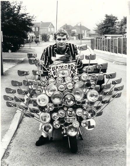 No blind spots. 60's mod on custom vespa: Motorcycles, Mod Style, Mirror Mirror, Bike, Trav'Lin Lights, Funny Pictures, Scooters, Safety First, Wasps