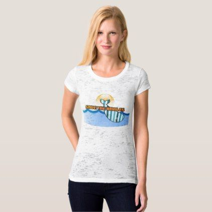 Retro Save the Whales Canvas Burnout T-Shirt - retro clothing outfits vintage style custom