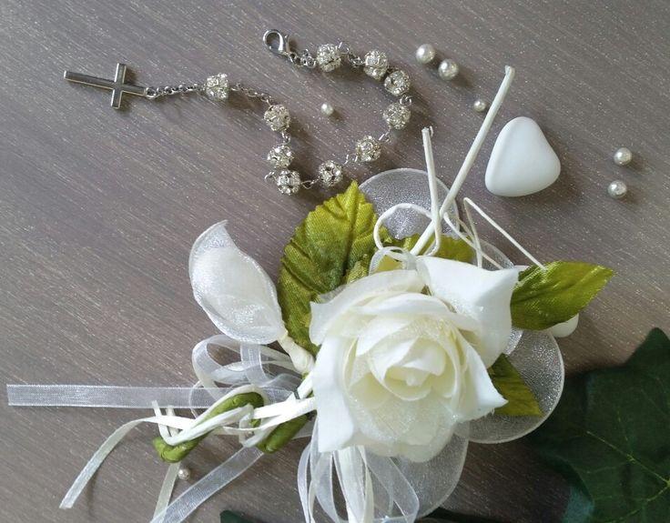 Bellissimo fiore completo di confetti con incastonato Bracciale - Rosario. .in promozione € 7.99. . So Pretty ♡