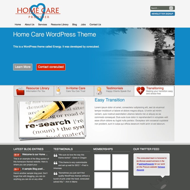 One Of Our Newest Modern Website Designs Energy Will Get Your Home Care Agency Up And Running Online In No