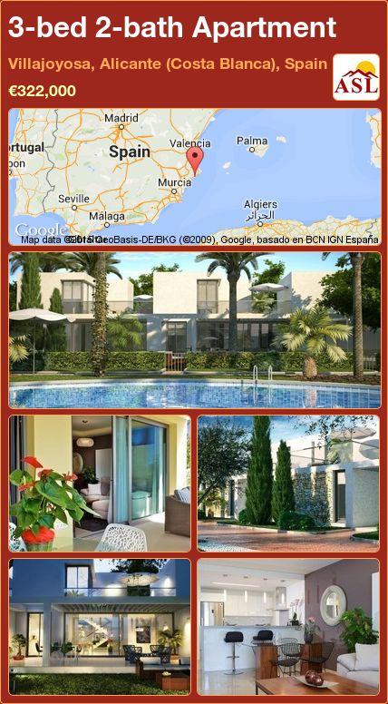 3-bed 2-bath Apartment in Villajoyosa, Alicante (Costa Blanca), Spain ►€322,000 #PropertyForSaleInSpain