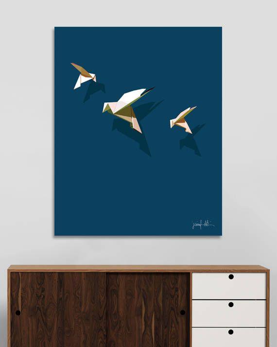 "Dove art print Bird art Origami art Geometric art Nursery USE THE CODE ""PINTEREST"" TO RECEIVE 30% OFF!"