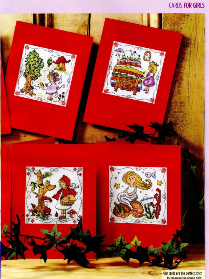 Fairytale Characters 2/2 Cross Stitch Card Shop Issue 88 January/February 2013 Saved