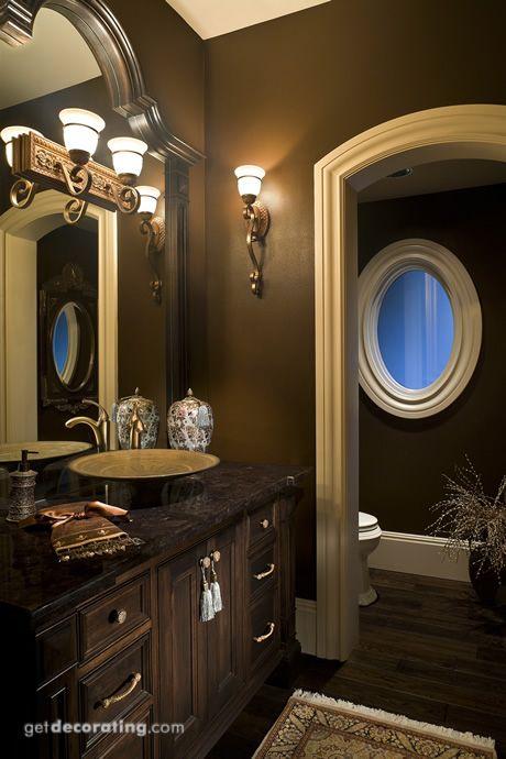 Love The Dark Bathroom