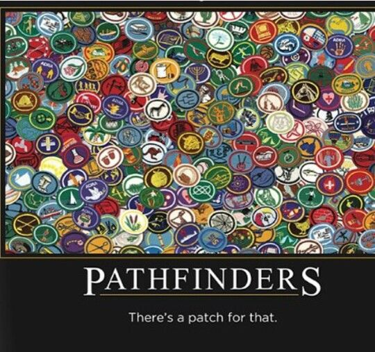 There's a patch for that! #Pathfinders #SDA