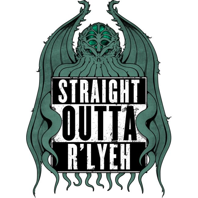 Straight Outta R'lyeh is a Sticker designed by pigboom to illustrate your life and is available at Design By Humans