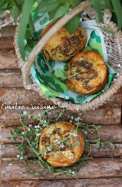 Muffins aux oignons et chèvre