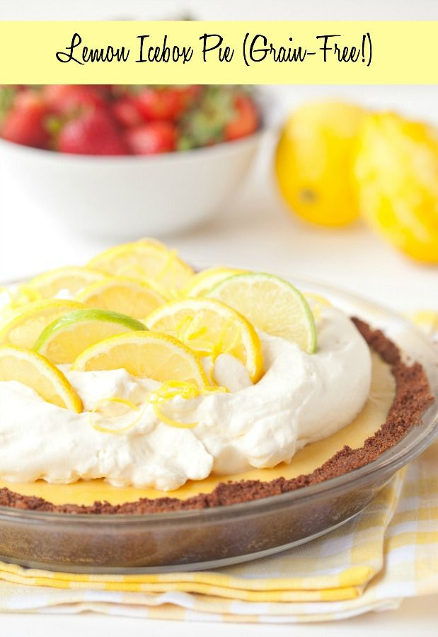 Lemon Icebox Pie | DeliciouslyOrganic.net #grainfree #paleo #dessert
