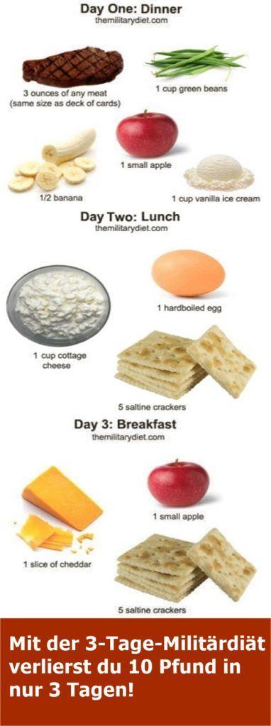 Mit der 3-Tage-Militärdiät verlierst du 10 Pfund in nur 3 Tagen! | njuskam!