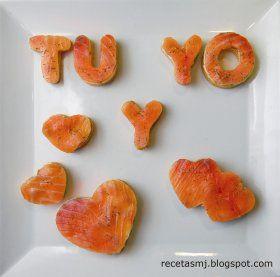 recetas san valentin saladas | Recetas caseras : Caricias de san valentín con salmón ahumado y ...