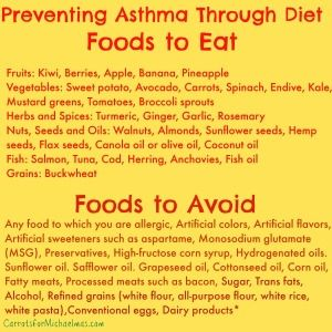 Preventing Asthma Through Food: What to Each and What to Avoid //Carrots for Michaelmas