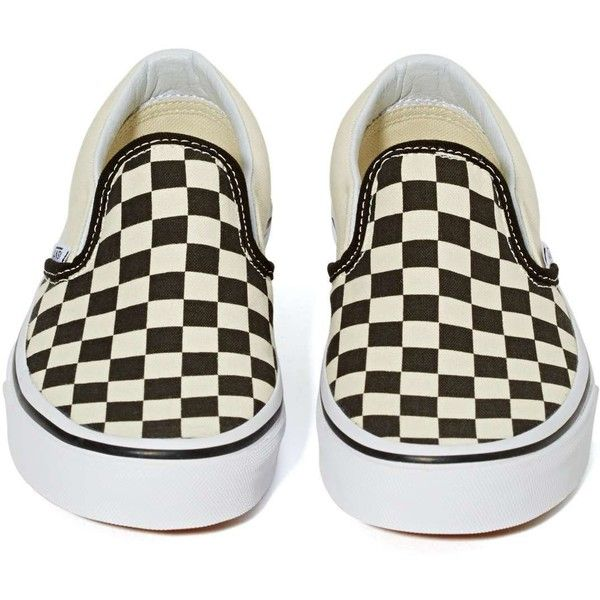 Vans Classic Slip On Sneaker ($48) ❤ liked on Polyvore featuring shoes, sneakers, vans trainers, famous footwear, small heel shoes, vans shoes and vans sneakers