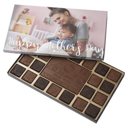 Mother's Day | Your Photo | Brush Script Lettering Assorted Chocolates - photos gifts image diy customize gift idea