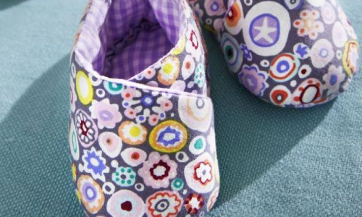 Babyschuhe inkl Anleitung und Schnittmuster