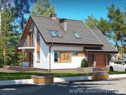Gotowy projekt domu jednorodzinnego Tomcio www.dominanta.pl