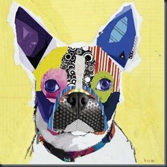 Picture 001Artists, French Bulldogs, Collage Art, Paper Scrap, Dogs Art, Art Ideas, Art Collage, Boston Terriers, Mixed Media Art
