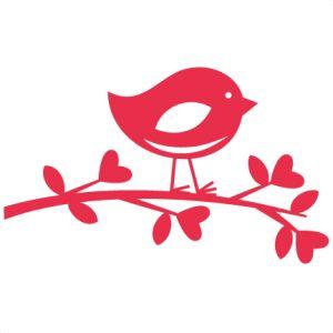 Lovebird on Branch: Miss Kate Cuttables-- scrapbook titles SVG cutting files robot cut files for scrapbooking clip art clipart doodle cut files for cricut free svg cuts