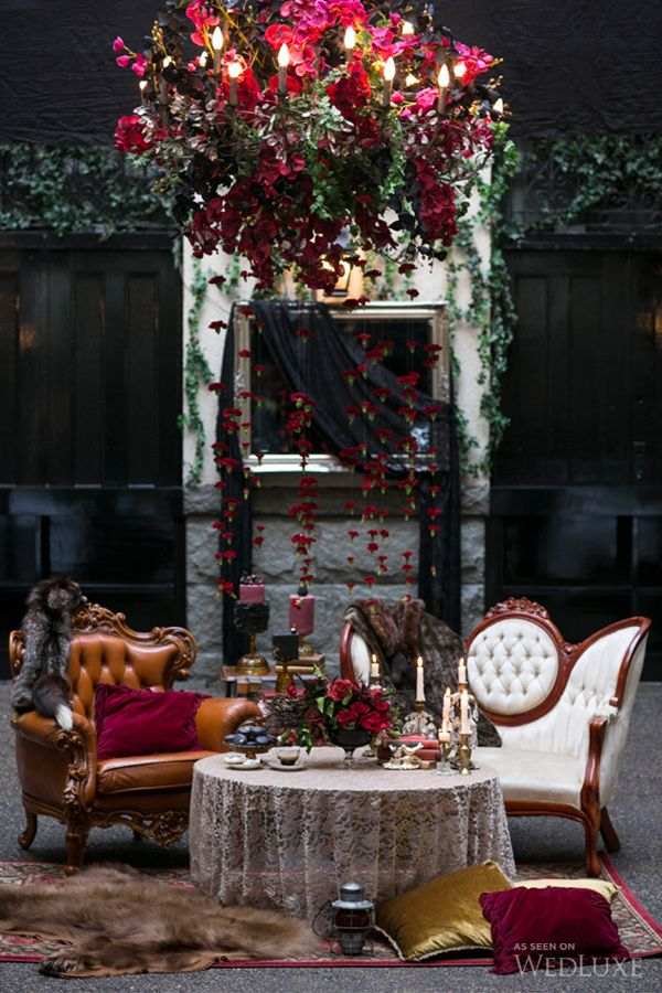 WedLuxe– A Bordeaux-Hued, Gothic-Inspired Shoot- Wedding Inspiration | Photography by: Sweet Pea Photography Follow @WedLuxe for more wedding inspiration!